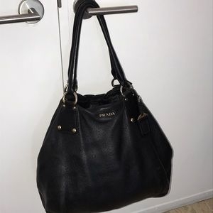 Authentic Prada soft calf Tote